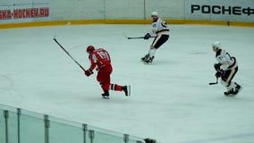 Partido del hockey en palacio del hielo de Vityaz metrajes
