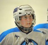 Partido del hockey sobre hielo de las muchachas Fotografía de archivo libre de regalías