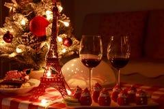 partido del hogar de la Navidad fotos de archivo