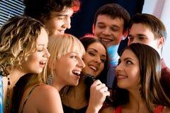 Partido del Karaoke foto de archivo libre de regalías