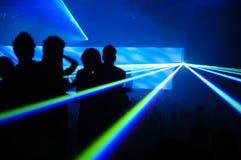 Partido del laser Imágenes de archivo libres de regalías