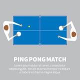 Partido del ping-pong Jugador de tenis de mesa Imagen de archivo libre de regalías