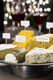 Partido del queso y de la degustación de vinos Fotos de archivo libres de regalías