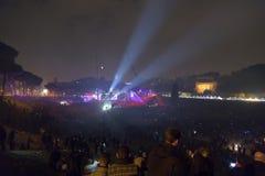 Partido del ` s de Roma para celebrar el Año Nuevo, 2018 Foto de archivo