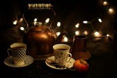 Partido del té y del café Foto de archivo libre de regalías