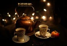 Partido del té y del café Imágenes de archivo libres de regalías