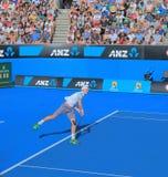 Partido del tenis de Abierto de Australia Imagen de archivo libre de regalías