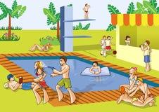 Partido del verano de la piscina Fotografía de archivo libre de regalías