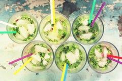 Partido del verano, partido de la playa, Mojito, cóctel del alcohol, tropical, a Imagen de archivo