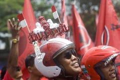 PARTIDO DEMOCRÁTICO INDONESIO DE PERFIL DE LA LUCHA Imágenes de archivo libres de regalías