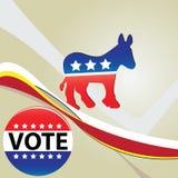 Partido Democratic del símbolo Fotografía de archivo libre de regalías