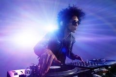 Partido DJ del club Imágenes de archivo libres de regalías