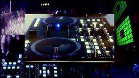 Partido DJ, luces del ir de discotecas del vj del reflector…. almacen de video
