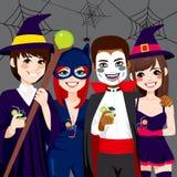 Partido do adulto de Dia das Bruxas ilustração royalty free