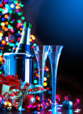 Partido do ano novo da arte Fotografia de Stock Royalty Free
