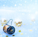 Partido do ano novo feliz da arte 2015 Fotografia de Stock