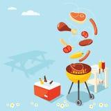 Partido do BBQ Imagens de Stock Royalty Free