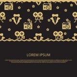 Partido do cinema, projeto da bandeira da concessão do filme ilustração royalty free