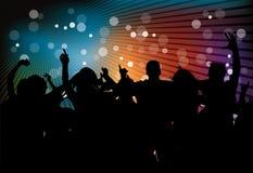 Partido do clube com povos da dança Foto de Stock