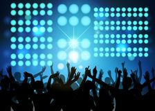 Partido do clube com povos da dança Fotos de Stock Royalty Free