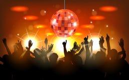 Partido do clube com povos da dança Imagem de Stock Royalty Free