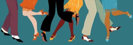 partido do estilo dos anos 20 ilustração royalty free