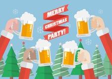 Partido do Feliz Natal ilustração royalty free