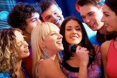 Partido do karaoke foto de stock royalty free
