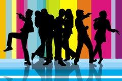 Partido do karaoke de Colourfull ilustração do vetor