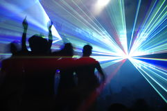 Partido do laser Imagens de Stock