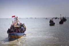 Partido do mar syawalan Imagens de Stock