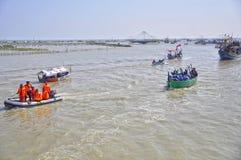 Partido do mar syawalan Imagem de Stock Royalty Free