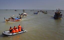 Partido do mar syawalan Foto de Stock