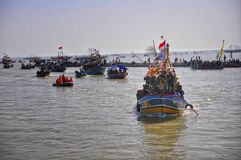 Partido do mar syawalan Fotografia de Stock Royalty Free