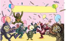 Partido do monstro Foto de Stock Royalty Free