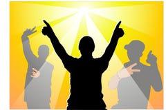 Partido do musical da juventude Imagem de Stock Royalty Free