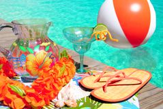 Partido do Poolside Fotos de Stock Royalty Free