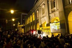 Partido do protesto do Conselho Legislativo a noite passada Imagens de Stock