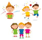 Partido do ` s das crianças Amigos felizes imagens de stock