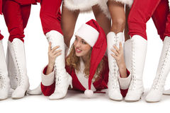 Partido do `s de Papai Noel fotos de stock royalty free