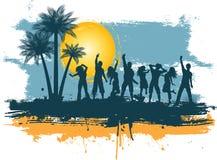 Partido do verão de Grunge Foto de Stock