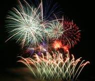 Partido dos fogos-de-artifício Fotografia de Stock Royalty Free