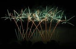 Partido dos fogos-de-artifício Fotos de Stock Royalty Free