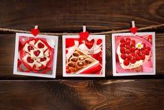 Partido dulce de las tarjetas del día de San Valentín Imagen de archivo