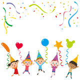 Partido e crianças Imagem de Stock Royalty Free