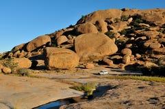 Partido en Ameib, Namibia de Bull Imagenes de archivo