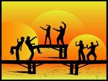 Partido en el puente libre illustration