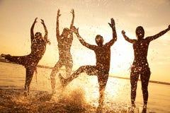 Partido en la playa Fotografía de archivo libre de regalías