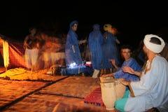 Partido en un campo del desierto Fotos de archivo libres de regalías