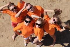Partido en una playa Fotografía de archivo libre de regalías
